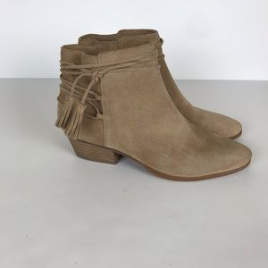 Vince Camuto | Carlina Tan Suede Ankle Booties.